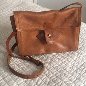 Madewell Cognac Leather Crossbody